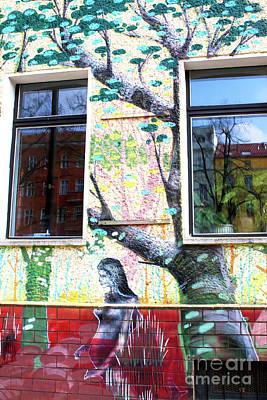 Photograph - Tree Graffiti Berlin by John Rizzuto