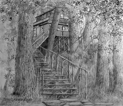 Tree House #1 Art Print by Jim Hubbard