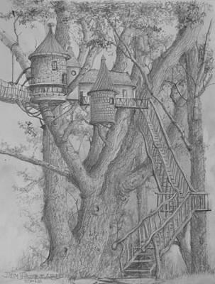 Tree House #3 Art Print by Jim Hubbard