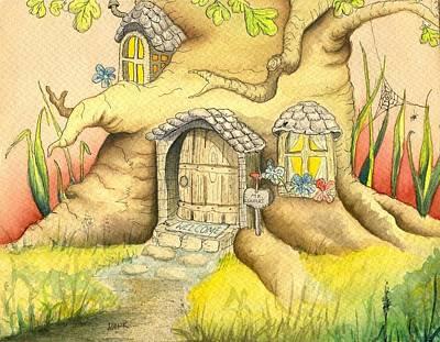 Hank Painting - Tree House by Hank Nunes