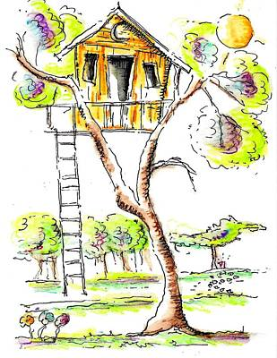 Mixed Media - Tree House  by Jason Nicholas