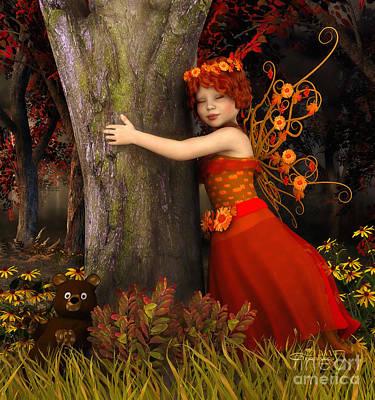 Tree Hug Print by Jutta Maria Pusl
