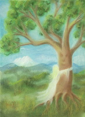 Painting - Tree Hugger by Bernadette Wulf