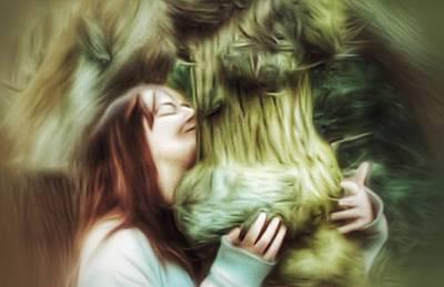 Digital Art - Tree Hugger by Isabella F Abbie Shores