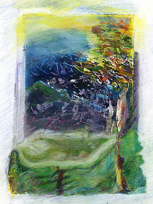Mixed Media - Tree In A Dream by Barbara Jacobs