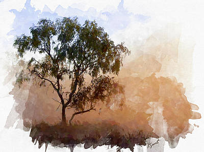 Digital Art - Tree In A Morning Mist by Kai Saarto