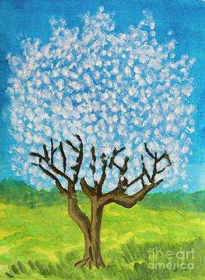 Painting - Tree In Blossom, Painting by Irina Afonskaya