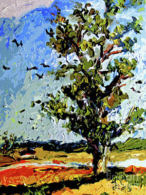 Mixed Media - Tree In Summer Sun Mixed Media by Ginette Callaway
