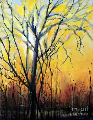 Painting - Tree In Thicket by Jodie Marie Anne Richardson Traugott          aka jm-ART