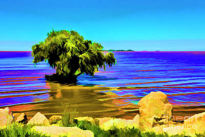 Digital Art - Tree In Water by Rick Bragan
