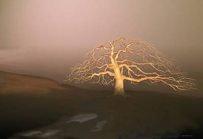 Digital Art - Tree In Winter I by Kerry Beverly