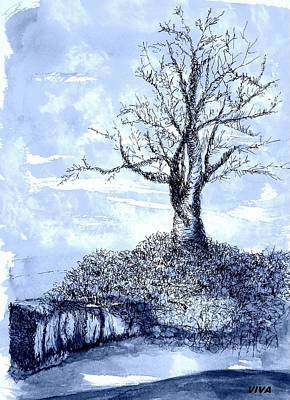 Drawing - Tree In Winter by VIVA Anderson