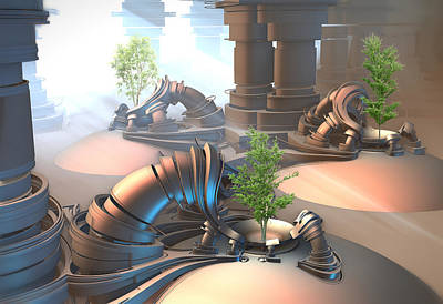 Digital Art - Tree Incubators by Hal Tenny
