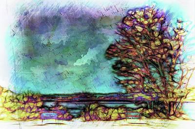 Digital Art - Tree Is The Park by Lilia D