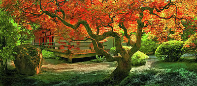 Tree, Japanese Garden Art Print