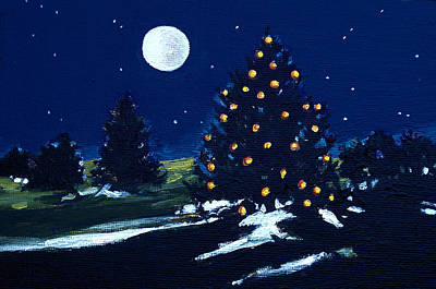 Painting - Tree Lights by Diane Ursin