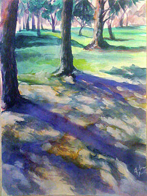 Ritter Park Painting - Tree Line by Julie Morrison