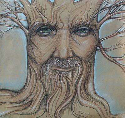 Drawing - Tree Man by Linda Nielsen