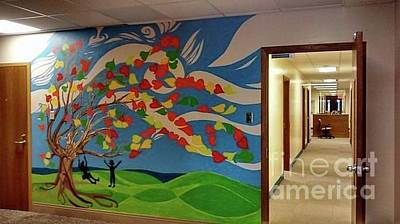 Painting - Tree Mural For Marygrove Social Services For Children by Genevieve Esson