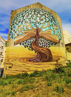 Photograph - Tree Mural, Lisbon by Venetia Featherstone-Witty
