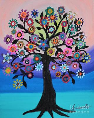 Painting - Blooming Tree Of Life by Pristine Cartera Turkus