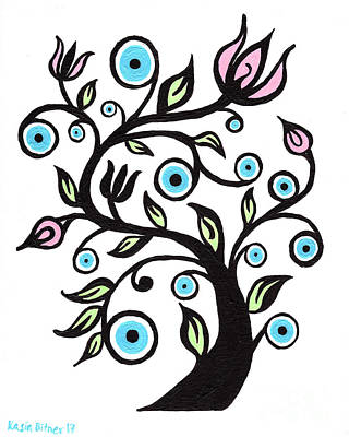 Painting - Tree Of Eye by Kasia Bitner