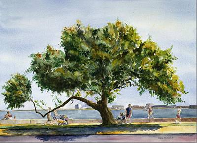 Southie Wall Art - Painting - Tree Of G by Dan McCole