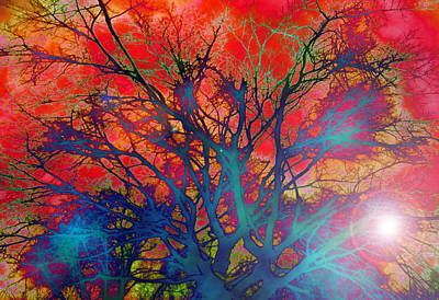 Tree Of Ghosts Art Print by Linnea Tober