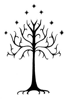 Lord Drawing - Tree Of Gondor Crest by Kayleigh Semeniuk