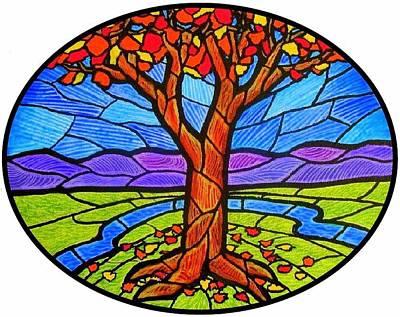 Tree Of Grace - Autumn Art Print by Jim Harris