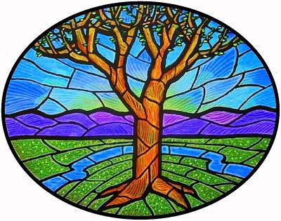 Tree Of Grace - Spring Print by Jim Harris