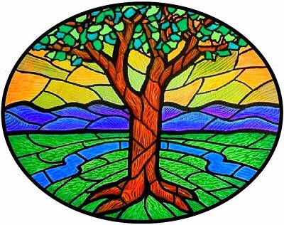 Tree Of Grace - Summer Print by Jim Harris