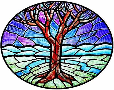 Tree Of Grace - Winter Art Print