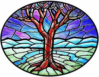 Tree Of Grace - Winter Print by Jim Harris