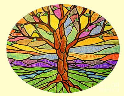 Tree Of Grace 2 Print by Jim Harris
