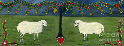 Folkartanna Painting - Tree Of Happiness by Anna Folkartanna Maciejewska-Dyba