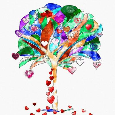 Painting - Tree Of Hearts by Gabriella Weninger - David