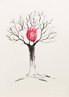 Tree Of Hearts Art Print by Stefanie Forck