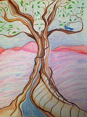 Tree Of Joy Art Print by Jan Nosakowski