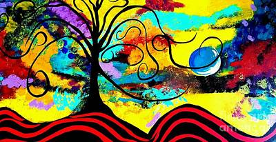 Tree Of Life Abstract Painting  Art Print