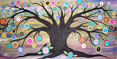 Tree Of Life And Bird Art Print by Karla Gerard
