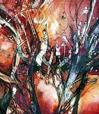Painting - Tree Of Life by Anne-D Mejaki - Art About You productions