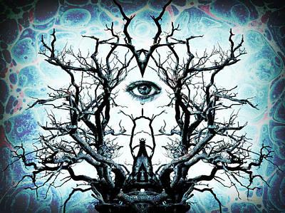 Underworld Human Photograph - Tree Of Life Archetype Religious Symmetry by John Williams