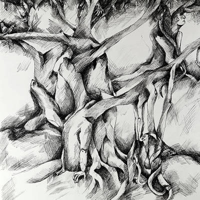 Drawing - Tree Of Life by Carol Montoya