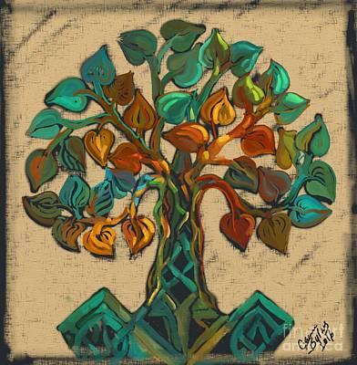 Tree Of Life Art Print by Carrie Joy Byrnes