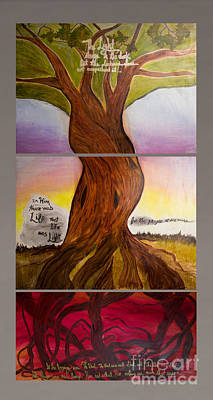 Origins Of Life Painting - Tree Of Life by Courtney Paige