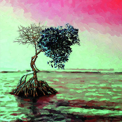 Digital Art - Tree Of Life - Crimson Tide by Serge Averbukh