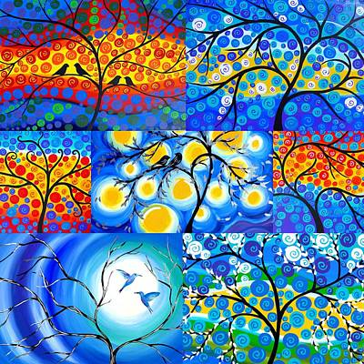 Big 3 Painting - Tree Of Life Designs by Cathy Jacobs
