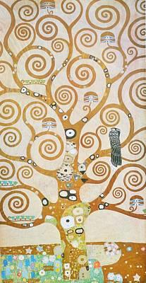 Painting - Tree Of Life Detail by Gustav Klimt