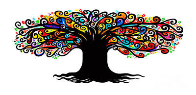 Wall Art - Painting - Tree Of Life by E Bradshaw